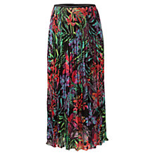 Buy East Aloha Print Skirt, Black Online at johnlewis.com
