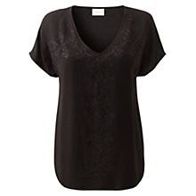 Buy East Gemma Embroidered Blouse, Black Online at johnlewis.com