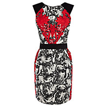 Buy Warehouse Double Paisley Print Dress, Red/Pattern Online at johnlewis.com