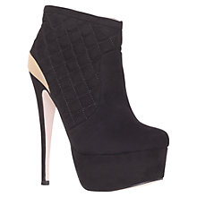 Buy Carvela Garter Platform Ankle Boots, Black Online at johnlewis.com