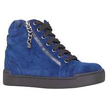 Buy Carvela Lap Zipped High-Top Trainers, Blue Online at johnlewis.com