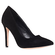 Buy Carvela Grander Suede Stiletto Heel Court Shoes, Black Online at johnlewis.com