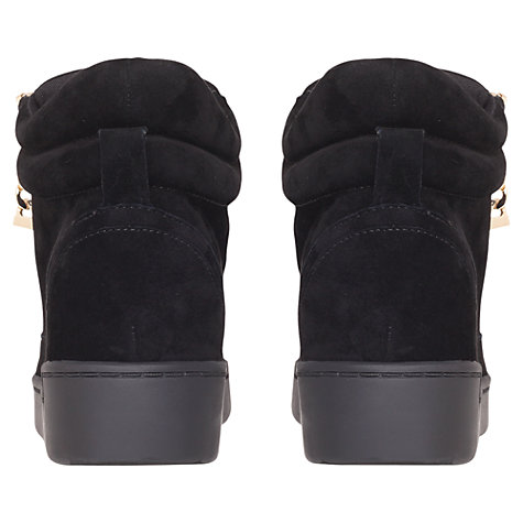 Buy Carvela Lap Zipped High-Top Trainers, Black Online at johnlewis.com