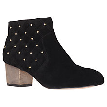 Buy Carvela Swallow Studded Suede Ankle Boots, Black Online at johnlewis.com