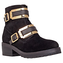 Buy Carvela Shard Heeled Biker Boots, Black Online at johnlewis.com