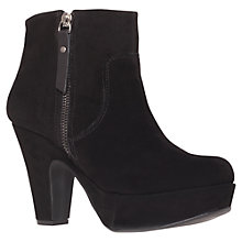 Buy Carvela Simone Suede Ankle Boots, Black Online at johnlewis.com