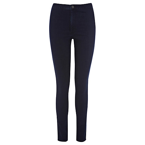 Buy Warehouse High Rise Skinny Jeans, Indigo Denim Online at johnlewis.com