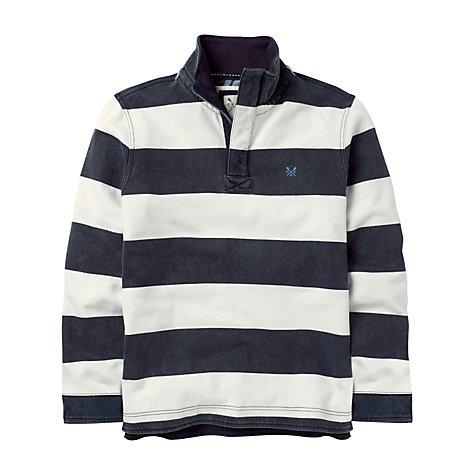Buy Crew Clothing Pique Stripe Jersey Jumper Online at johnlewis.com