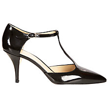 Buy Hobbs London Alexis T-Bar Court Shoes, Black Online at johnlewis.com