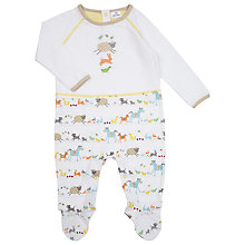 Buy John Lewis Baby Farmyard Jersey Sleepsuit, Multi Online at johnlewis.com