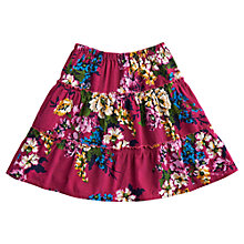 Buy Little Joule Joy Corduroy Floral Skirt, Ruby Online at johnlewis.com
