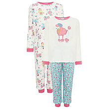 Buy John Lewis Girl Long Sleeve Poodle Place Pyjamas, Pack of 2, Multi Online at johnlewis.com