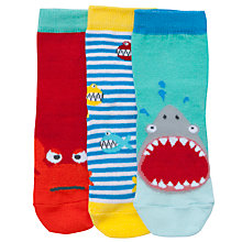 Buy John Lewis Boy Shark Toes Socks, Pack of 3, Multi Online at johnlewis.com