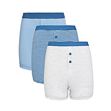 Buy John Lewis Boy Striped Boxers, Pack of 3, Blue/Grey Online at johnlewis.com