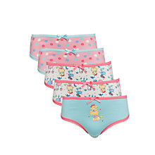 Buy John Lewis Girl Poodle Briefs, Pack of 5, Multi Online at johnlewis.com