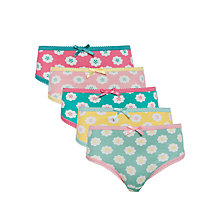 Buy John Lewis Girl Bright Floral Briefs, Pack of 5, Multi Online at johnlewis.com