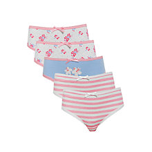 Buy John Lewis Girl Vintage Floral Briefs, Pack of 5, Pink/Multi Online at johnlewis.com