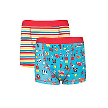 Buy John Lewis Boy Sports and Stripe Trunks, Pack of 2, Multi Online at johnlewis.com