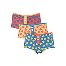 Buy John Lewis Girl Heart Boxers, Pack of 3, Multi Online at johnlewis.com