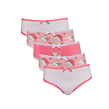 Buy John Lewis Girl Cat Briefs, Pack of 5, Pink/Multi Online at johnlewis.com