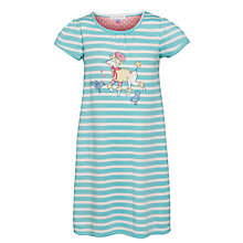 Buy John Lewis Girl Short Sleeve Poodle Nightdress, Blue Online at johnlewis.com
