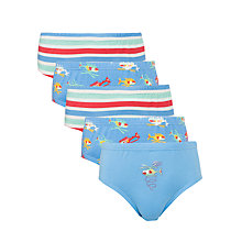 Buy John Lewis Boy Helicopter and Stripe Briefs, Pack of 5, Blue/Multi Online at johnlewis.com