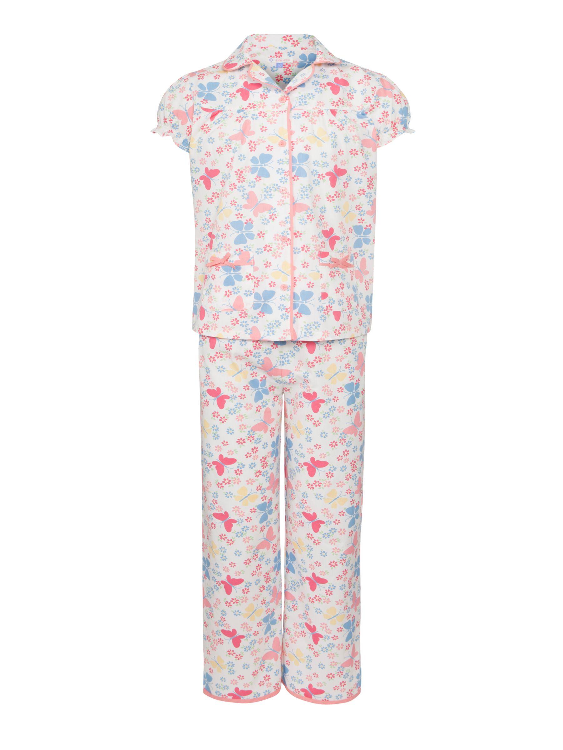 John Lewis Girl Butterfly Pyjamas, Multi