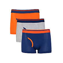 Buy John Lewis Boy Colour Block Trunks, Pack of 3, Blue/Multi Online at johnlewis.com