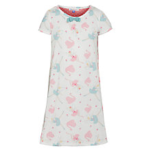 Buy John Lewis Girl Short Sleeve Fairy Nightdress, Cream Online at johnlewis.com