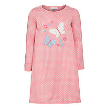 Buy John Lewis Girl Long Sleeve Butterfly Nightdress, Pink Online at johnlewis.com