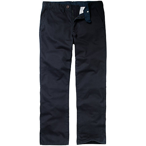 Buy Crew Clothing Regular Fit Trousers, Navy Online at johnlewis.com