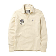 Buy Crew Clothing Didsbury Rugby Shirt, Vintage White Online at johnlewis.com