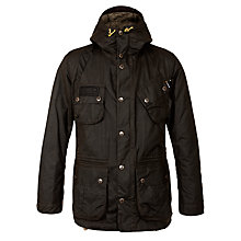 Buy Barbour International Fog Parker Waxed Jacket, Green Online at johnlewis.com