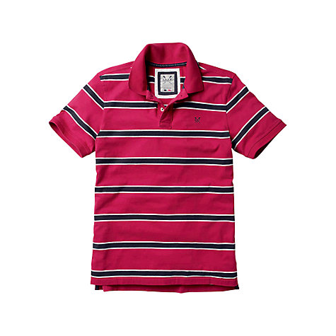 Buy Crew Clothing Varsity Stripe Polo Shirt Online at johnlewis.com