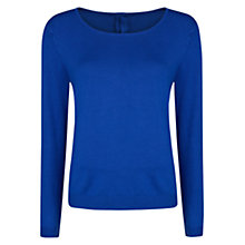 Buy Mango Long Sleeve Jumper, Bright Blue Online at johnlewis.com