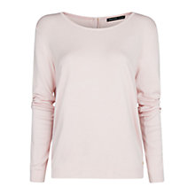 Buy Mango Button Detail Sweater, Pastel Pink Online at johnlewis.com