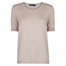 Buy Mango Short Sleeve Sweater, Light Beige Online at johnlewis.com