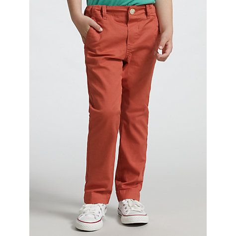 Buy Kin by John Lewis Boys' Chinos, Red Online at johnlewis.com