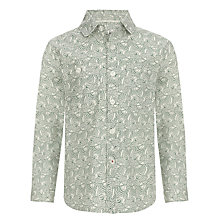 Buy Kin by John Lewis Boys' Wave Print Shirt, Blue/White Online at johnlewis.com