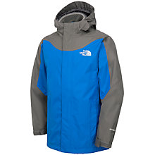 Buy The North Face Boys' Evolution Triclimate Waterproof Jacket Coat, Blue/Grey Online at johnlewis.com