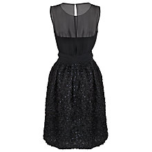 Buy French Connection Rochelle Ribbon Dress, Black Online at johnlewis.com