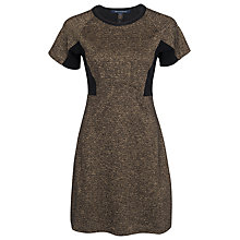 Buy French Connection Melange Strata Dress, Black / Gold Online at johnlewis.com