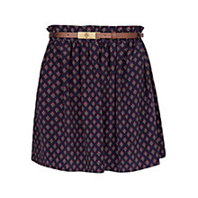 Buy Mango Dapper Print Flare Skirt, Navy Online at johnlewis.com