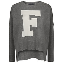 Buy French Connection Vhari F Jumper, Grey Melange/Brule Online at johnlewis.com