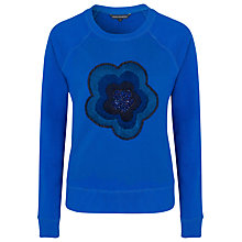 Buy French Connection Fauna Fantasy Sweatshirt, Electricity Blue Online at johnlewis.com