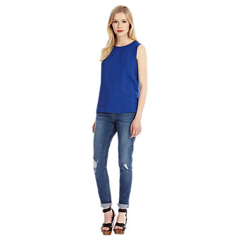 Buy Oasis Elizabeth Top, Rich Blue Online at johnlewis.com