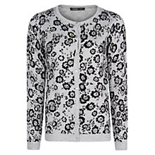 Buy Mango Embossed Flower Cardigan, Medium Grey Online at johnlewis.com
