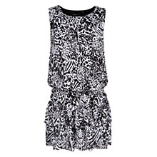 Buy Mango Animal Print Chiffon Dress, Black Online at johnlewis.com