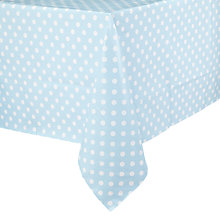 Buy John Lewis Polka Dot PVC Tablecloth, Duck Egg Online at johnlewis.com