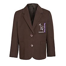 Buy The Mount School Girls' Blazer, Brown Online at johnlewis.com